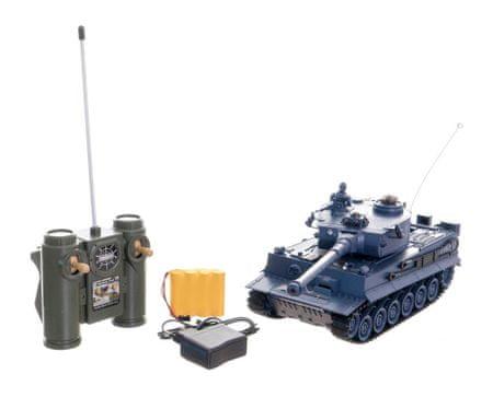 Teddies Tank RC 33 cm TIGER I 27MHz se zvukem a světlem