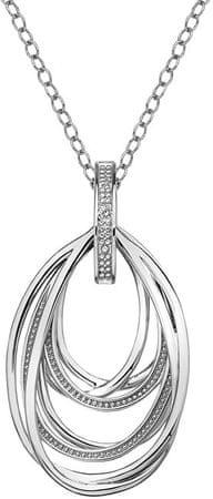 Hot Diamonds Srebrna ogrlica z diamantnim lestencem Vintage DP651 (veriga, obesek) srebro 925/1000
