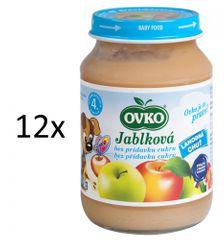 OVKO 12x Jablečné bez cukru PT - 190g