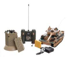 Teddies Tank RC 33 cm TIGER I + bunkr 27MHz se zvukem a světlem