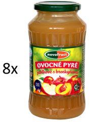 NOVOFRUCT 8x Ovocné pyré jablko +  broskyňa - 700 g