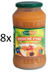NOVOFRUCT 8x Ovocné pyré jablko +  marhuľa - 700 g