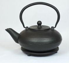 ja-unendlich čajnik od lijevanog željeza Kurage, 0,9 l crni