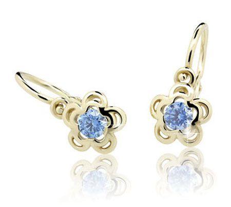 Cutie Jewellery Gyermek fülbevaló C2204-10 (szín piros) sárga arany 585/1000