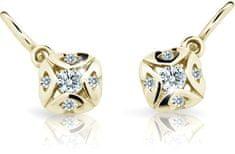 Cutie Jewellery Detské náušnice C2250-10-X-1 žlté zlato 585/1000