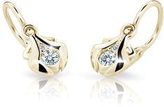 Cutie Jewellery Detské náušnice C2224-10-10-X-1 žlté zlato 585/1000