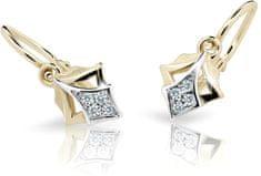 Cutie Jewellery Gyermek fülbevaló C2220-10-10-X-1 fehér arany 585/1000