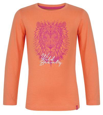 Loap dekliška majica z dolgimi rokavi IZIDA, 112/116, oranžna