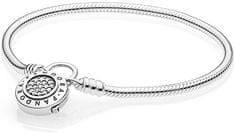 Pandora Strieborný náramok s trblietavým zámkom 597092CZ striebro 925/1000