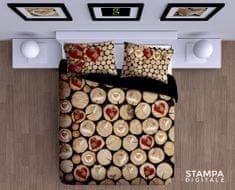 Gipetex bombažna posteljnina Catasta Tronchi 3D