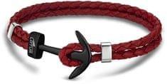 Lotus Style Bőr karkötő horgony díszítéssel LS1832-2/9