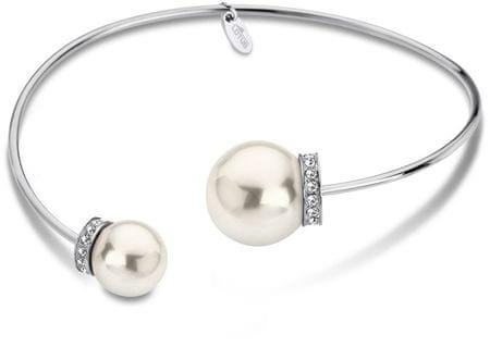 Lotus Style Merev nemesacél karkötő gyöngyökkel LS1824-2/1