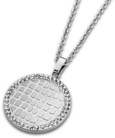 Lotus Style Jeklena ogrlica s kristali LS1778-1 / 1