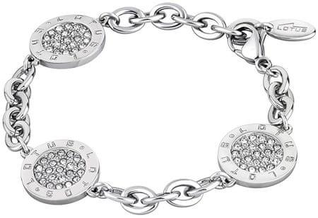 Lotus Style Bransoleta ze stali z kryształkami LS1751-2 / 1