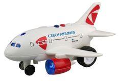 MaDe Lietadlo ČSA s hlásením kapitána a letušky - zánovné