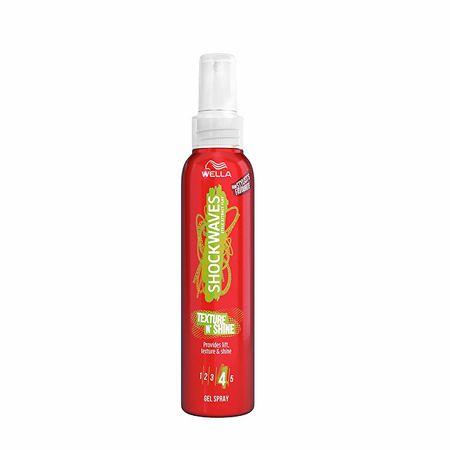 Wella Shockwaves hajfixáló gél-spray(Texture N`Shine Provides Lift) 150 ml