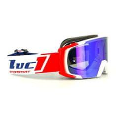 Motocyklové crossové okuliare Scrub LUC1 biela-červená