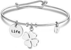 Lotus Style Zapestnica iz trdnega jekla Happy life LS2019-2 / 5