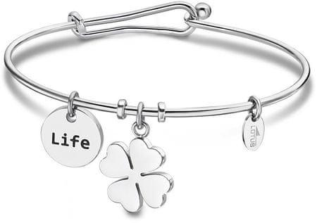 Lotus Style Solid Steel karkötő Happy Life LS2019-2 / 5