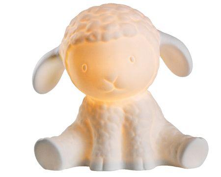 """Kaemingk """"Bárány"""" porcelán asztali lámpa, 20x15x19 cm"""