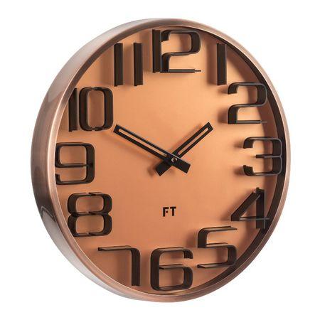 Future Time Dizajnové nástenné hodiny FT7010CO Numbers 30 cm