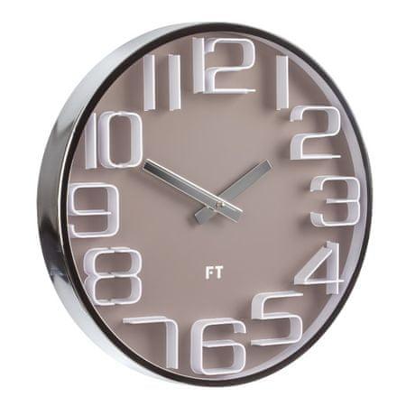 Future Time Dizajnové nástenné hodiny FT7010BR Numbers 30 cm