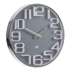 Future Time Dizajnové nástenné hodiny Numbers 30 cm