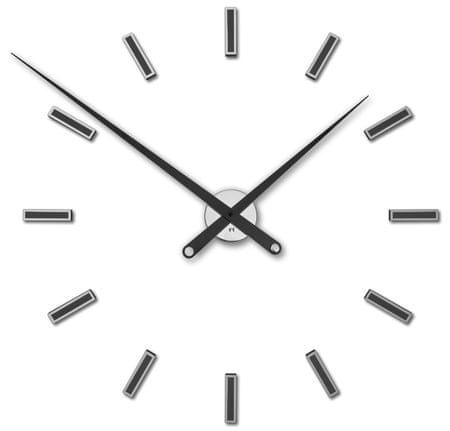 Future Time Dizajnové nalepovacie hodiny FT9100BK Modular Black 85 cm