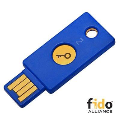 Varnostni ključ Yubikey FIDO2 U2F, USB-A, moder