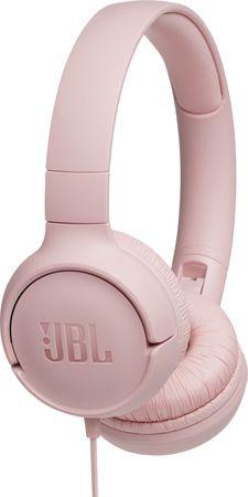 JBL Tune 500, růžová