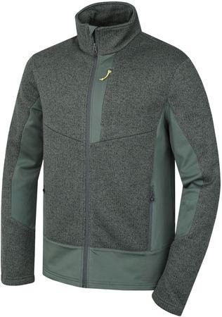 Husky muški pulover Alan M, sivo zeleni,XL