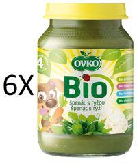 OVKO 6x BIO špenát + rýže PT - 190g