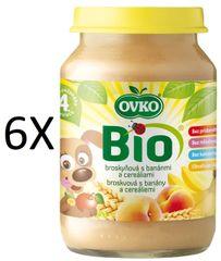 OVKO 6x BIO Cereálie bros.+banán PT - 190g
