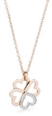 Brosway Ocelový bicolor náhrdelník se čtyřlístkem C-lover BOV04
