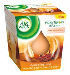 Air wick Essential Oils Infusion sviečka - Pomaranč a sviatočné korenie 150g