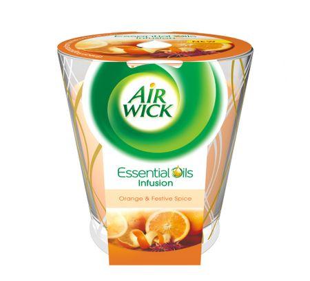 Air wick Essential Oils Infusion DECO gyertya - Narancs és ünnepi fűszerek 150g