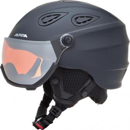 Alpina Sports Grap Visor HM Black Matt 57-61 - rozbaleno