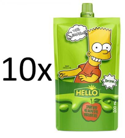 Hello 10x SIMPSONS jablko - 200 ml