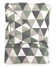 Mistral Home Beránkový pléd Flannel yarn Pyramid šedá