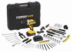 PowerPlus POWX00825 20 W LI-ION wkrętarka/wiertarka, 133 sztuki akcesoria