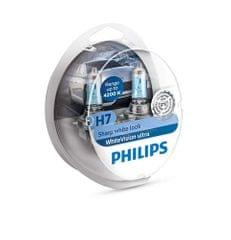 Philips par žarulja H7 WhiteVision Ultra + W5W