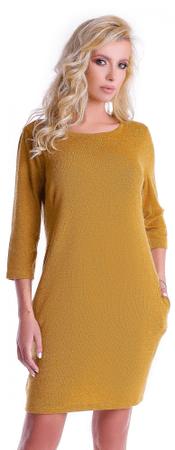 Natalee ženska obleka, rumena, S
