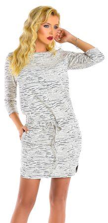 Natalee női ruha L krémszínű