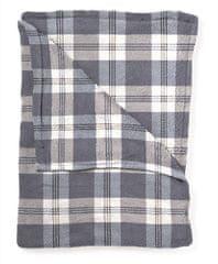 Mistral Home Beránkový pléd Flannel yarn Navy check 130x170 cm
