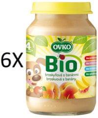 OVKO 6x BIO broskyňa + banány PT -190g