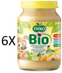 OVKO 6x BIO jablko+banány+marhuľa PT - 190g