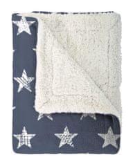 Mistral Home Beránkový pléd Stars Modrý 130x170 cm
