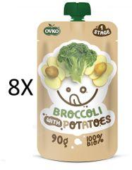 OVKO 8x BIO Brokolice+Brambory PO - 90 g
