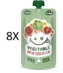 OVKO 8x BIO Zelenin. zmes + Ryža PO - 90 g