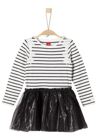 67c73fc9a80e s.Oliver dievčenské šaty 134 béžová čierna